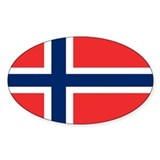 Norway Flag Oval Bumper Stickers