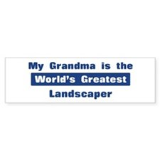 Grandma is Greatest Landscape Bumper Bumper Sticker