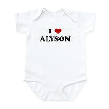 I Love ALYSON Infant Bodysuit