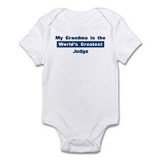 Grandma is Greatest Judge Infant Bodysuit