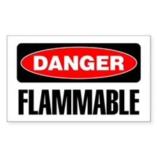 Danger: Flammable Decal