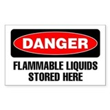 Danger: Flammable Liquids Stored Here Decal