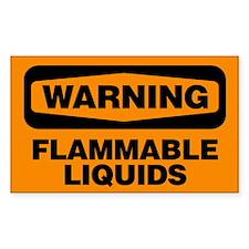 Danger: Flammable Liquids Decal