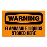 Warning: Flammable Liquids Stored Here Decal