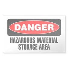 Danger: Hazardous Material Storage Area Decal