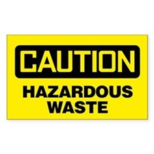 Caution: Hazardous Waste Decal