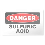 Danger: Sulfuric Acid Decal