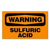 Warning: Sulfuric Acid Decal