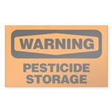 Warning: Pesticide Storage Decal