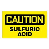 Caution: Sulfuric Acid Decal