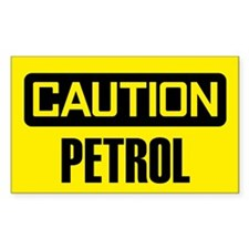 Caution: Petrol Decal