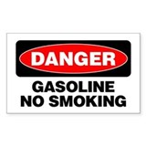 Danger: Gasoline No Smoking Decal