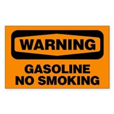 Warning: Gasoline No Smoking Decal