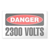 Danger: 2300 Volts Decal