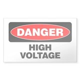 Danger: High Voltage Decal