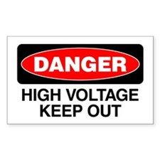 Danger: High Voltage Keep Out Decal
