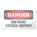 Danger: High Voltage Electrical Equipment Decal