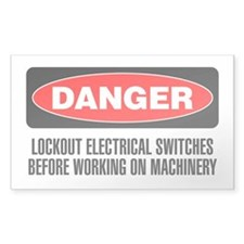 Danger: Lockout Electrical Switches Before Working