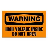 Warning: High Voltage Inside Do Not Open Decal