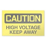Caution: High Voltage Keep Away Decal