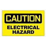 Caution: Electrical Hazard Decal