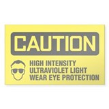 Caution: High Intensity Ultraviolet Light Decal