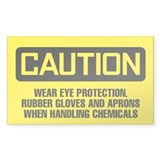 Caution: Wear Protection When Handling Decal