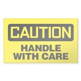 Caution: Handle With Care Decal