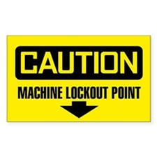 Caution: Machine Lockout Point Decal