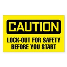 Caution: Lock-Out For Safety Decal