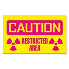 Caution: Restricted Area Decal