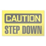 Caution: Step Down Decal