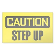 Caution: Step Up Decal