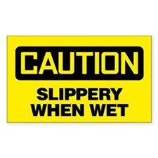 Caution: Slippery When Wet Decal