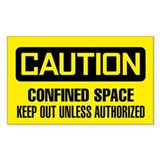 Caution: Confined Space Keep Out Unless Authorized