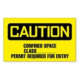 Caution: Confined Space Form 1 Decal
