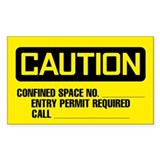 Caution: Confined Space Form 2 Decal