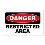 Danger: Restricted Area Decal