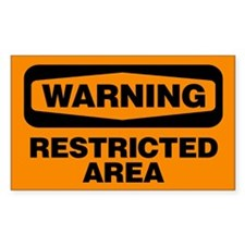 Warning: Restricted Area Decal