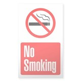 No Smoking Vertical Decal