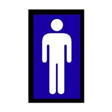 Men's Washroom Symbol Decal