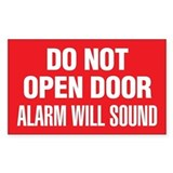 Do Not Open Door Alarm Will Sound Decal