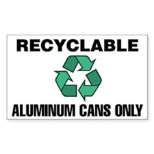 Recyclable Aluminum Cans Only (w/Symbol) Decal