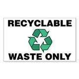 Recyclable Waste Only (w/Recycle Symbol) Decal