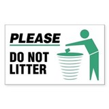 Please Do Not Litter Decal