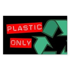 Plastic Only Recycling Sticker (Black Series)
