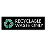Recyclable Waste Only Sticker (Black Series)