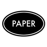Paper Oval Sticker (Black Series)