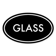 Glass Oval Sticker (Black Series)