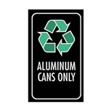 Aluminum Cans Only Sticker (Black w/Symbol)
